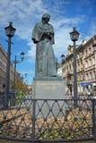 Μνημείο Gogol σε Άγιο Πετρούπολη Στοκ Φωτογραφία