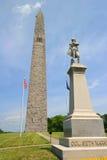 Μνημείο Hill αποθηκών με το άγαλμα του συνταγματάρχη Seth Warner Στοκ Εικόνες