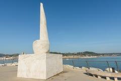 Μνημείο Jonathan Livingston - S Bendetto del Tronto - ΤΠ στοκ εικόνες με δικαίωμα ελεύθερης χρήσης