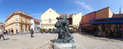 Μνημείο Kerempuh Petrica στο Ζάγκρεμπ, Κροατία στοκ εικόνα
