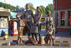 Μνημείο Kindertransport κοντά στο σιδηροδρομικό σταθμό του Γντανσκ, Πολωνία Στοκ Φωτογραφία