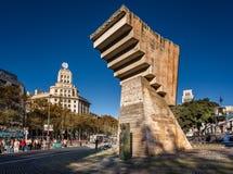Μνημείο Macia Francesc Placa de Catalunya, Βαρκελώνη, Ισπανία Στοκ φωτογραφία με δικαίωμα ελεύθερης χρήσης