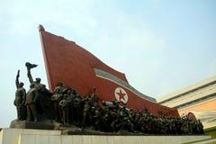 Μνημείο Mansudae, Pyongyang, Βόρεια Κορέα Στοκ εικόνα με δικαίωμα ελεύθερης χρήσης