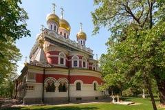 Μνημείο Nativity Ορθόδοξων Εκκλησιών σε Shipka, Βουλγαρία Στοκ Φωτογραφία