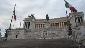 Μνημείο Patria della Altare στη Ρώμη, τουριστικό αξιοθέατο στην Ιταλία, αρχιτεκτονική απόθεμα βίντεο