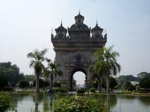 Μνημείο Patuxai ή νίκης στο Λάος στοκ εικόνες