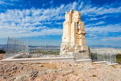 Μνημείο Philopappos στην Αθήνα Στοκ εικόνες με δικαίωμα ελεύθερης χρήσης