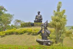 Μνημείο Phu Sunthorn, ένας από τους μέγιστους ποιητές της Ταϊλάνδης Στοκ φωτογραφία με δικαίωμα ελεύθερης χρήσης
