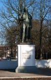 Μνημείο Schiller στο kaliningrad Στοκ Φωτογραφία