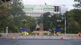 Μνημείο Shevchenko Taras στο Κίεβο απόθεμα βίντεο