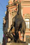 Μνημείο Tamers αλόγων - Άγιος Πετρούπολη, Ρωσία Στοκ Εικόνα
