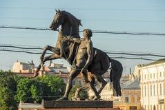 Μνημείο Tamers αλόγων - Άγιος Πετρούπολη, Ρωσία Στοκ Εικόνες