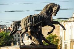 Μνημείο Tamers αλόγων - Άγιος Πετρούπολη, Ρωσία Στοκ φωτογραφία με δικαίωμα ελεύθερης χρήσης