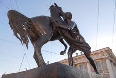 Μνημείο Tamers αλόγων - Άγιος Πετρούπολη, Ρωσία Στοκ φωτογραφίες με δικαίωμα ελεύθερης χρήσης