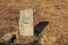 Μνημείο Tomasdottir Sigridur στον καταρράκτη Gullfoss, χρυσό Circ Στοκ Εικόνες