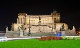 Μνημείο Vittorio Emanuele ΙΙ και βωμός της πατρικής γης στη Ρώμη στοκ εικόνα με δικαίωμα ελεύθερης χρήσης