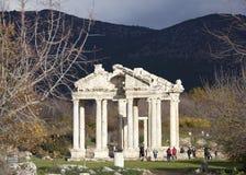 Μνημειακή πύλη πόλεων Aphrodisias Στοκ Εικόνες