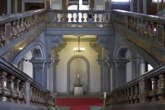 Μνημειακή σκάλα του ιστορικού Palazzo Arese Litta στοκ εικόνα
