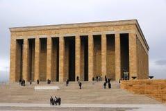 Μνημειακός τάφος Anitkabir μαυσωλείων Ataturk του Mustafa Kemal ΑΤΑ Στοκ φωτογραφία με δικαίωμα ελεύθερης χρήσης