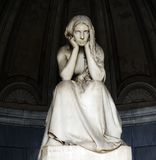 Μνημειακό νεκροταφείο Certosa Παρεκκλησι Bigram Gregorini, θλίψη ` Desolazione ` από το Vincenzo Vela 1875 Στοκ Φωτογραφίες