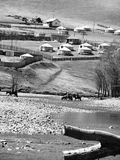 μογγολικά yurts επαρχίας Στοκ Εικόνα