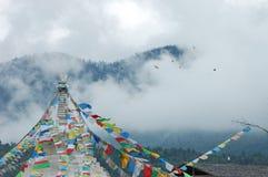 Μογγολικές σημαίες Aobao Στοκ Φωτογραφίες