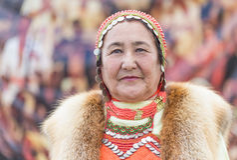 Μογγολική γυναίκα Στοκ Φωτογραφίες
