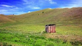 Μογγολική ξύλινη κοντόχοντρη τουαλέτα απόθεμα βίντεο