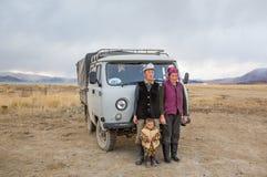 Μογγολική οικογένεια νομάδων Στοκ εικόνες με δικαίωμα ελεύθερης χρήσης