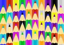 Μολυβιών σχέδιο τόξο-που τοποθετείται άνευ ραφής Στοκ Εικόνες