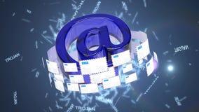 Μολυσμένα ηλεκτρονικά ταχυδρομεία Ένας μεγάλος αριθμός των μολυσμένω διανυσματική απεικόνιση
