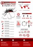 Μολυσματική ασθένεια Infographics - πυρετός δαγκείου Στοκ Εικόνες