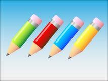 μολύβια απεικόνισης Στοκ Εικόνα