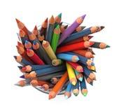 μολύβια ομάδας χρώματος Στοκ εικόνα με δικαίωμα ελεύθερης χρήσης