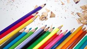 μολύβια που ακονίζονται Στοκ Φωτογραφία