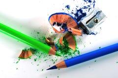 μολύβια που ακονίζονται στοκ εικόνα