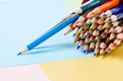 μολύβια χρώματος ξύλινα Στοκ εικόνα με δικαίωμα ελεύθερης χρήσης