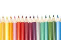 μολύβια χρώματος που τίθ&epsilo Στοκ Φωτογραφίες