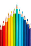 Μολύβια χρώματος ως αιχμή ή βέλη Στοκ Φωτογραφίες