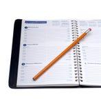 μολύβι ημερολογίων Στοκ εικόνα με δικαίωμα ελεύθερης χρήσης