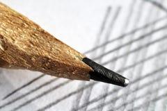 Μολύβι και έγγραφο μολύβδου τόσο κοντά Στοκ Εικόνα