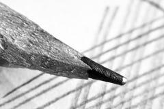 Μολύβι και έγγραφο μολύβδου τόσο κοντά Στοκ φωτογραφίες με δικαίωμα ελεύθερης χρήσης