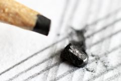 Μολύβι και έγγραφο μολύβδου τόσο κοντά Στοκ Εικόνες