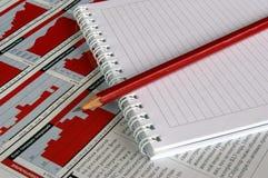 μολύβι σημειώσεων βιβλίων Στοκ φωτογραφία με δικαίωμα ελεύθερης χρήσης