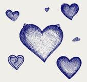 Μολύβι σκίτσων. Καρδιά Στοκ εικόνες με δικαίωμα ελεύθερης χρήσης