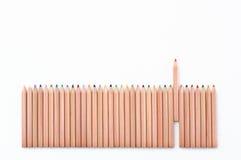 μολύβι φραγών χρώματος στοκ φωτογραφία