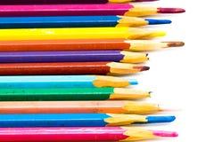 Μολύβι χρώματος κινηματογραφήσεων σε πρώτο πλάνο που απομονώνεται στο άσπρο υπόβαθρο Στοκ Εικόνα
