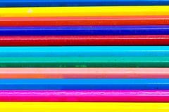 Μολύβι χρώματος κινηματογραφήσεων σε πρώτο πλάνο στο άσπρο υπόβαθρο Στοκ Εικόνες