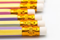 Μολύβι χρώματος κινηματογραφήσεων σε πρώτο πλάνο στο διάστημα Στοκ φωτογραφίες με δικαίωμα ελεύθερης χρήσης