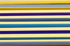 Μολύβι χρώματος κινηματογραφήσεων σε πρώτο πλάνο στο διάστημα Στοκ Φωτογραφία